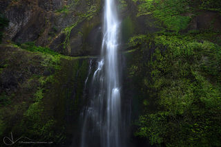 multnomah falls, oregon, columbia river gorge, spring, waterfall