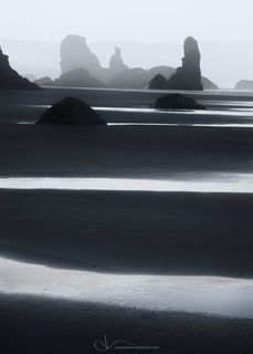 oregon, coast, bandon, seastacks, beach