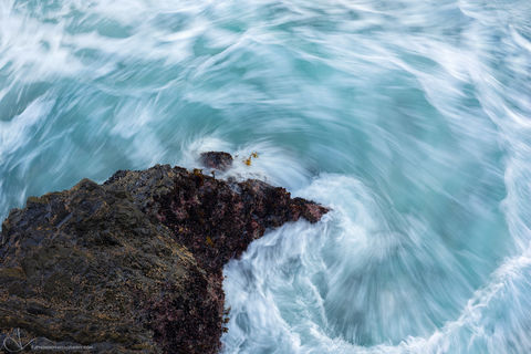 water, swirl, oregon, coast, ocean, spiral