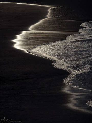morning, sand, beach, oregon
