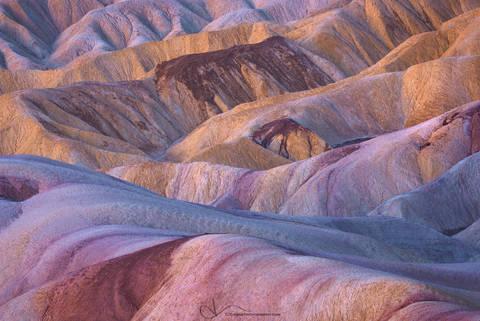 badlands, zabriskie, death valley, california, color, national park