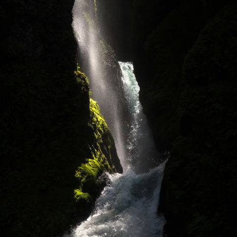 oregon, columbia river gorge, wahclella falls, eagle creek, fire