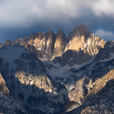 clouds, mt. whitney, eastern sierra, mountain, california, morning