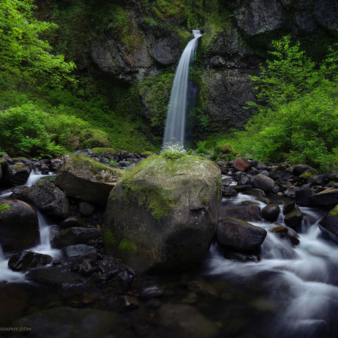waterfall, stream, columbia river gorge, oregon