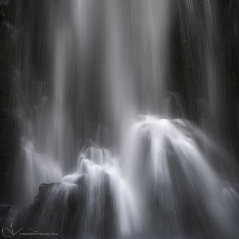 waterfall, water, double falls, silver falls state park, oregon, intimate