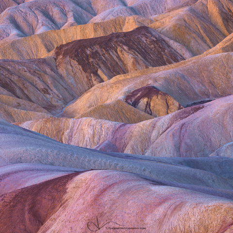 badlands, zabriskie, death valley, california, color, national park