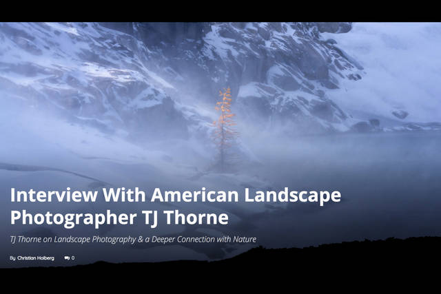 Interview by Christian Hoiberg of Capture Landscapes
