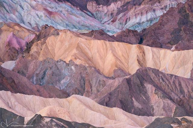 badlands, pastel, death valley, national park, intimate