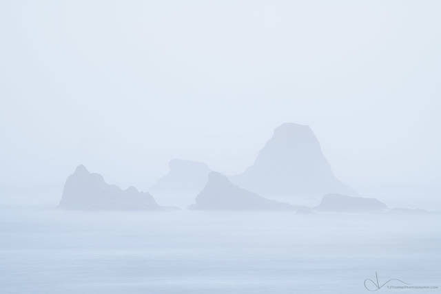 fog, ruby beach, olympic national park, washington