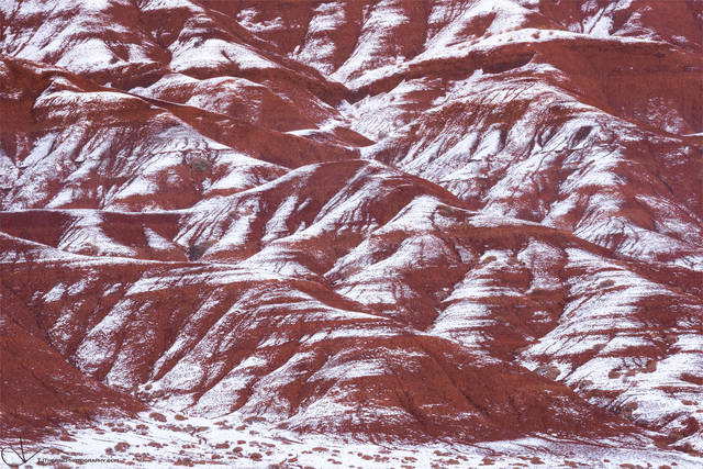 winter, snow, bentonite, capitol reef, national park, utah