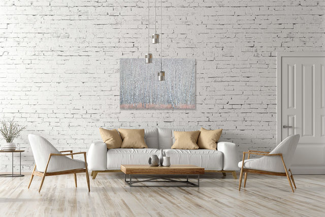 3d, apartment, armchair, background, branch, brick, brick wall, chair, coffee table, contemporary, copy, copy space, couch, cushion, decor, decoration, design, empty, fabric, floor, furniture, home, h