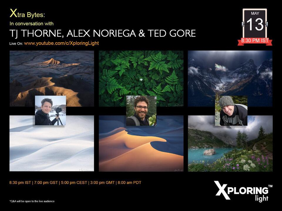 In Conversation with Xploring Light - TJ Thorne, Alex Noriega, and Ted Gore