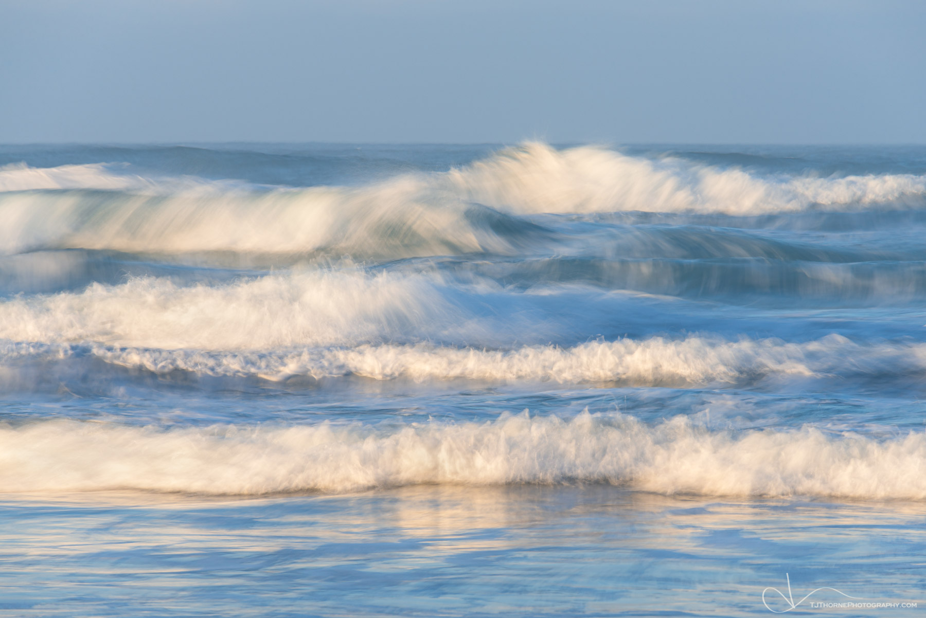 ocean, morning, surf, waves, oregon, coast, photo