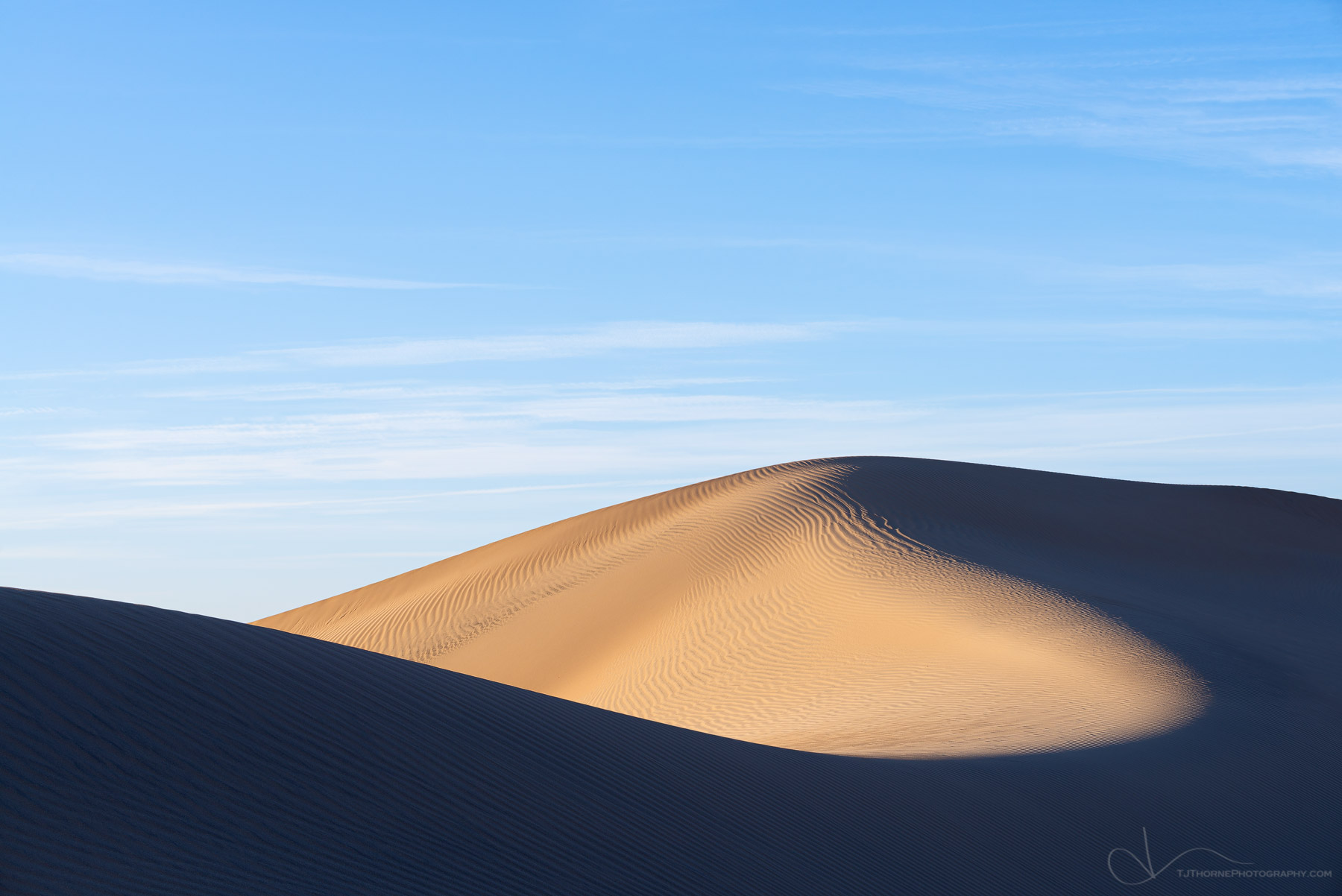 FINE ART LIMITED EDITION OF 100Early evening light on Mesquite Sand Dunes in Death Valley National Park, California.