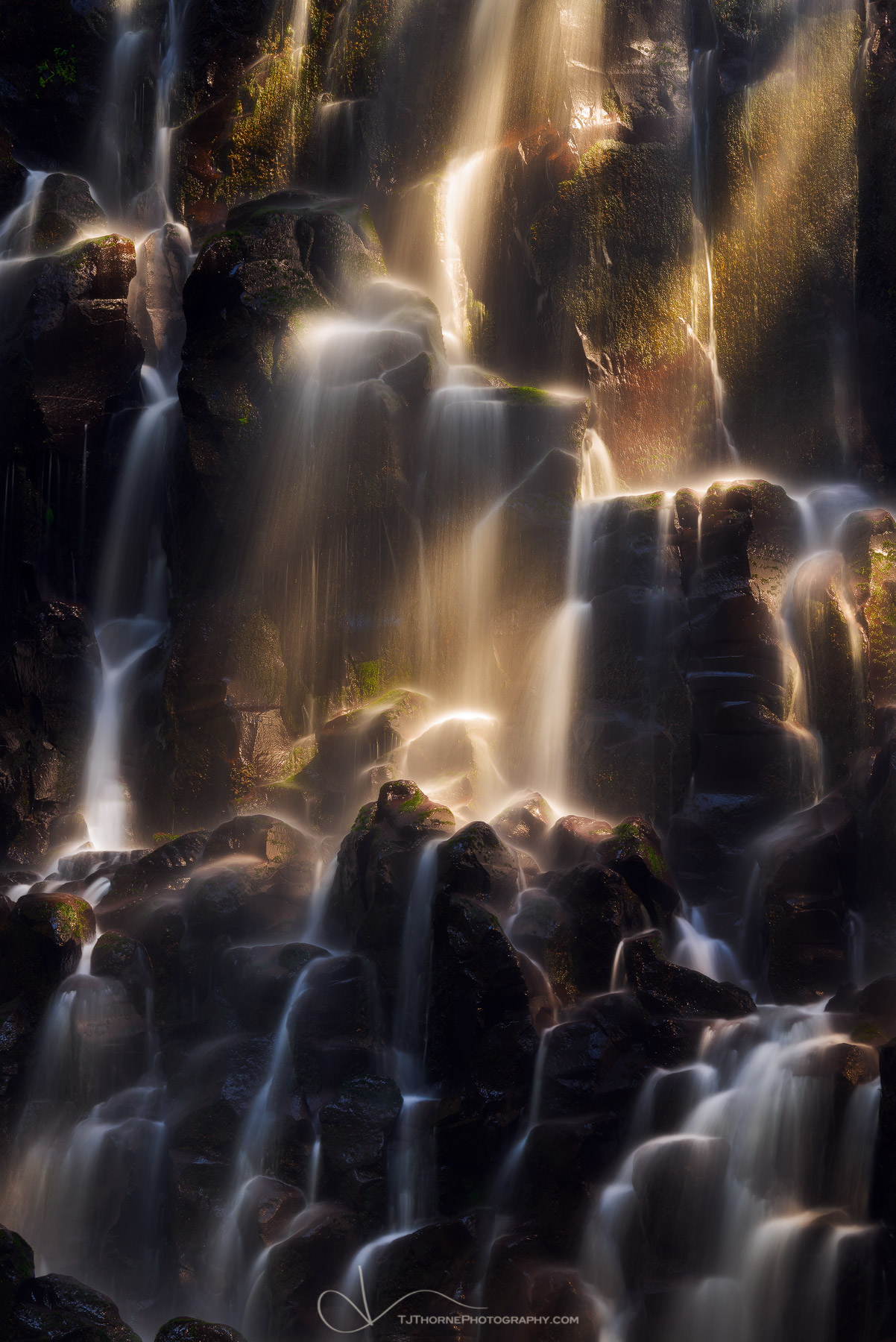 FINE ART LIMITED EDITION OF 100 Direct light strikes Ramona Falls in Mt. Hood National Forest, Oregon. I've been fighting a lot...