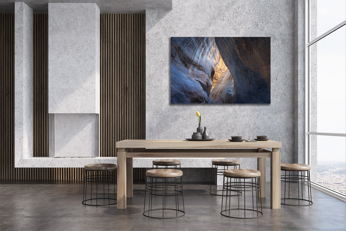Soul Flame on display in a modern dining room.
