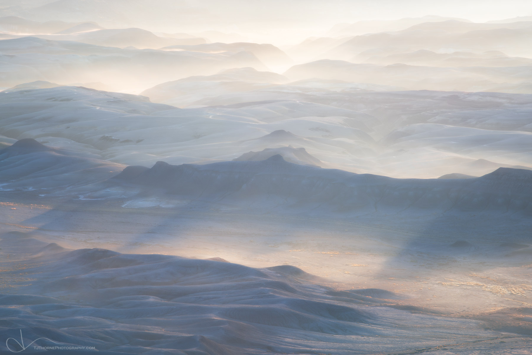 FINE ART LIMITED EDITION OF 100 Morning light illuminates fog rising over a sea of badlands in Southern Utah. I took this back...