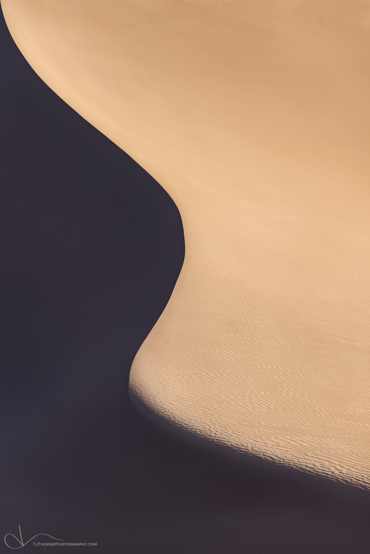 sand, dune, light, shadow, california, death valley, national park, photo