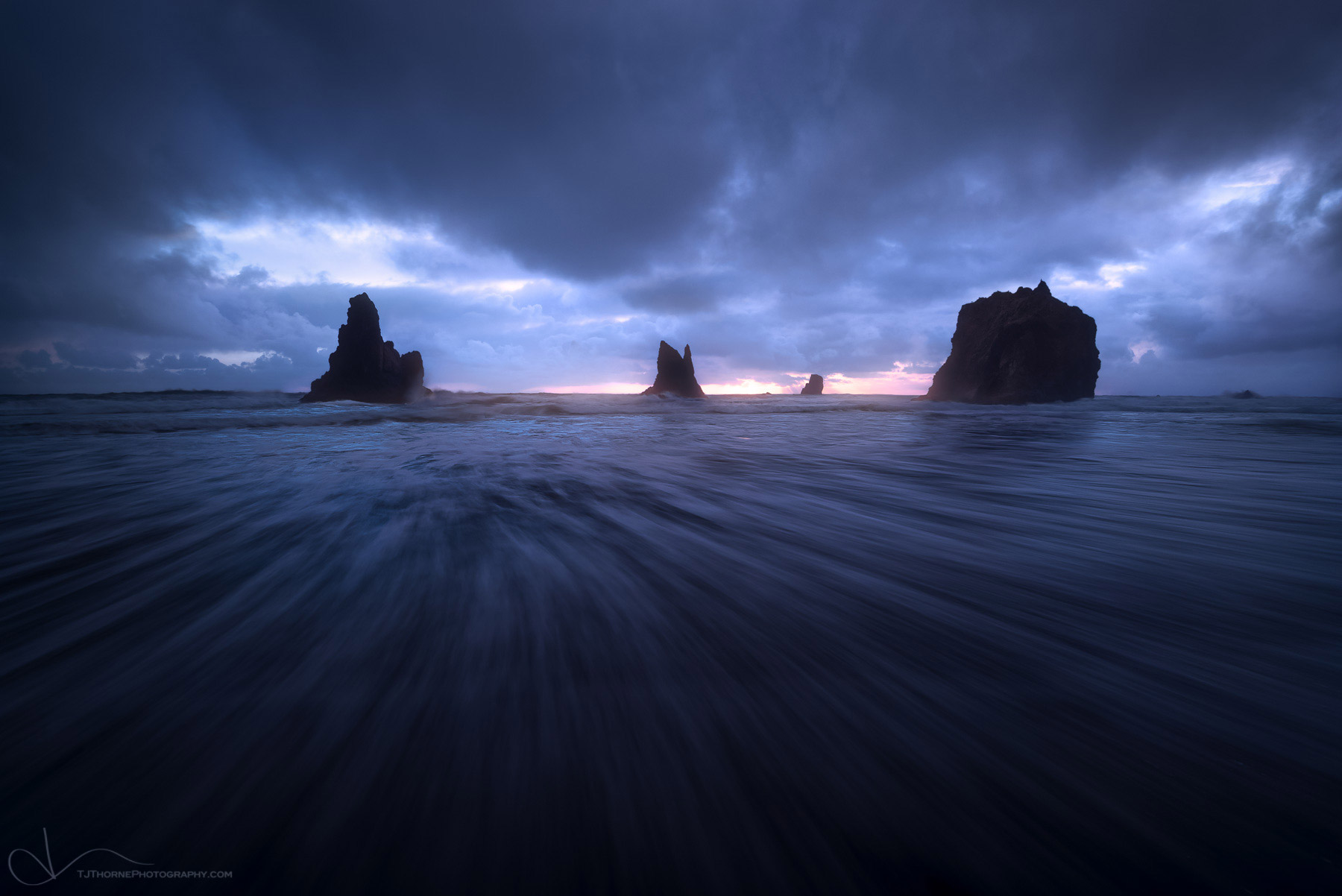 oregon, coast, storm, clouds, beach, photo