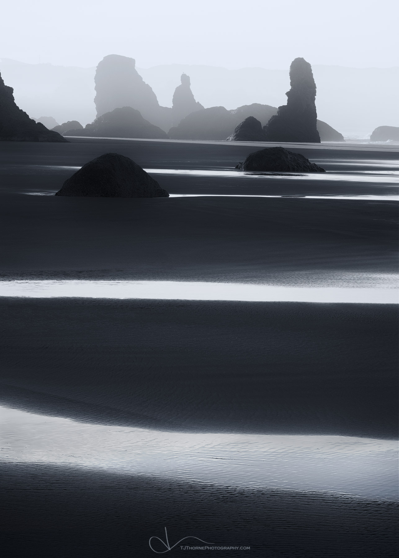 oregon, coast, bandon, seastacks, beach, photo