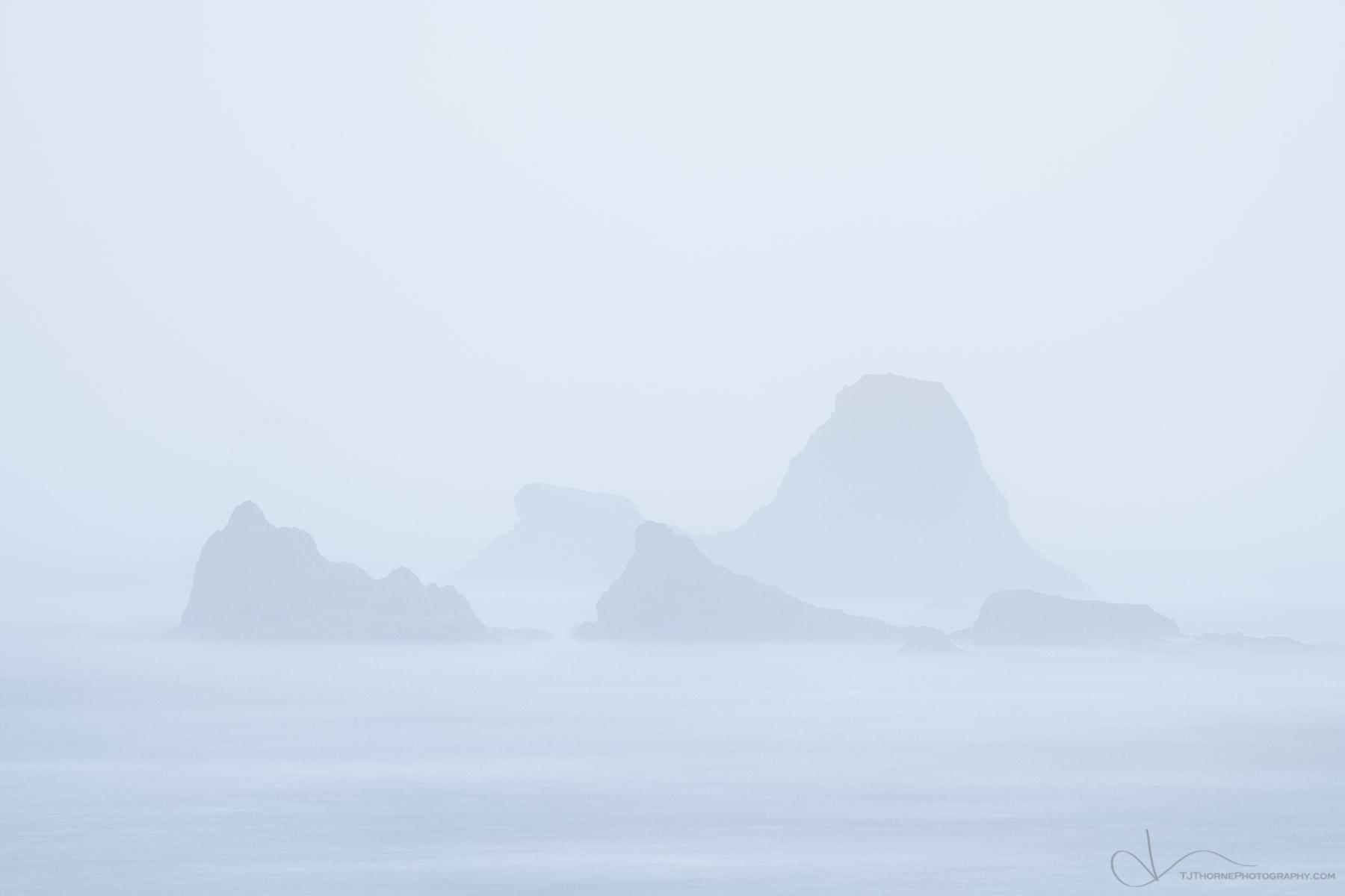 fog, ruby beach, olympic national park, washington, photo