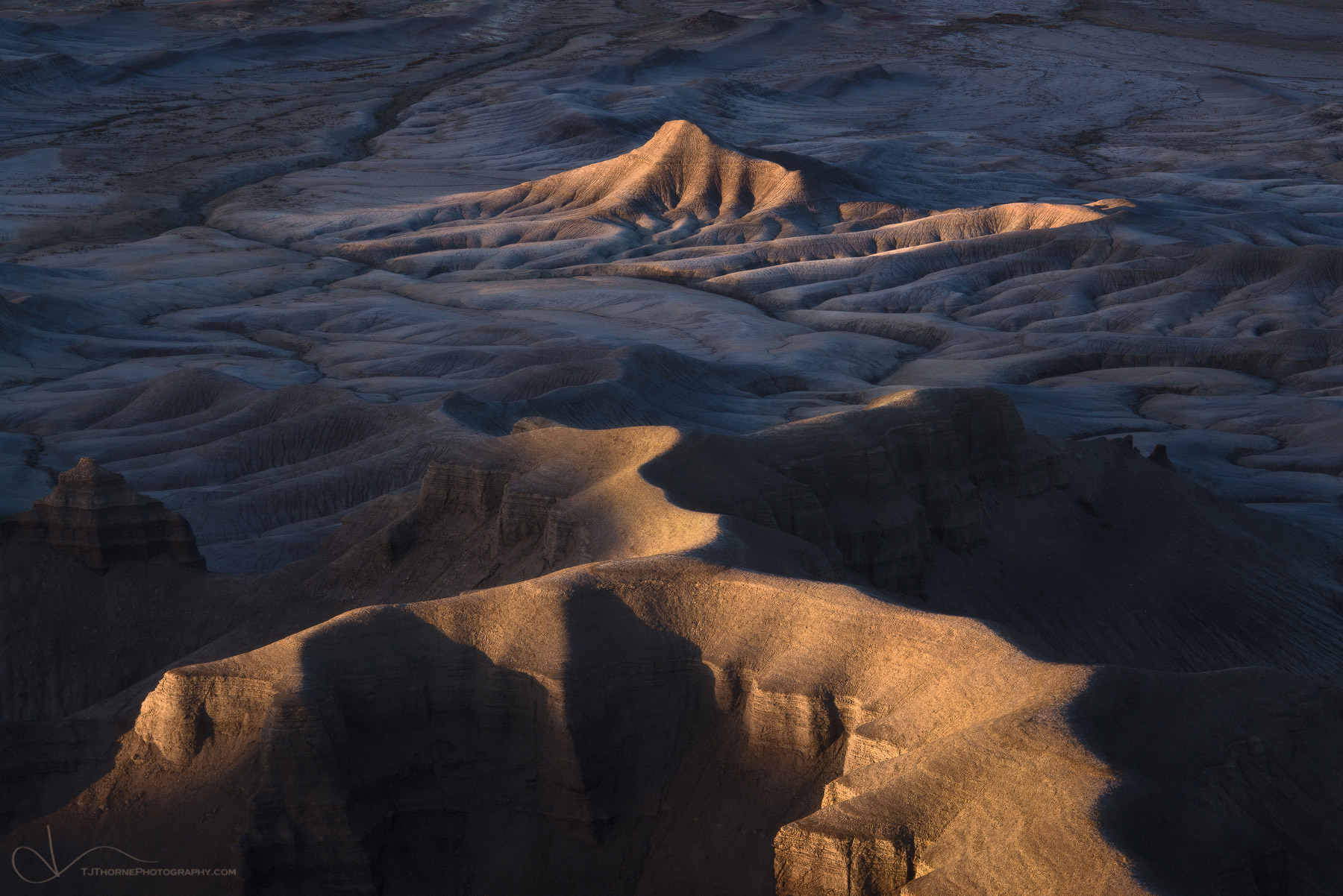 utah, badlands, sunset, warm, light, colorado plateau, desert, photo