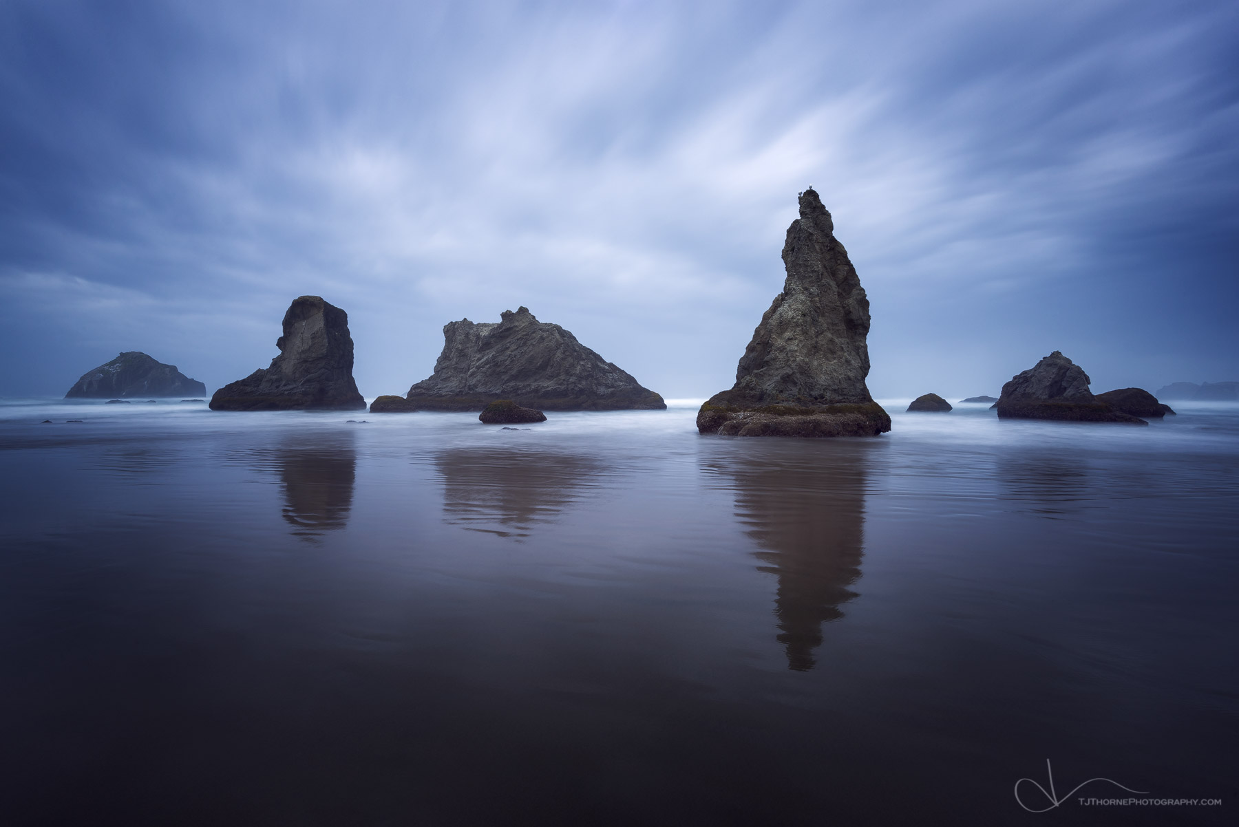 bandon, sea stacks, face rock, beach, oregon, photo