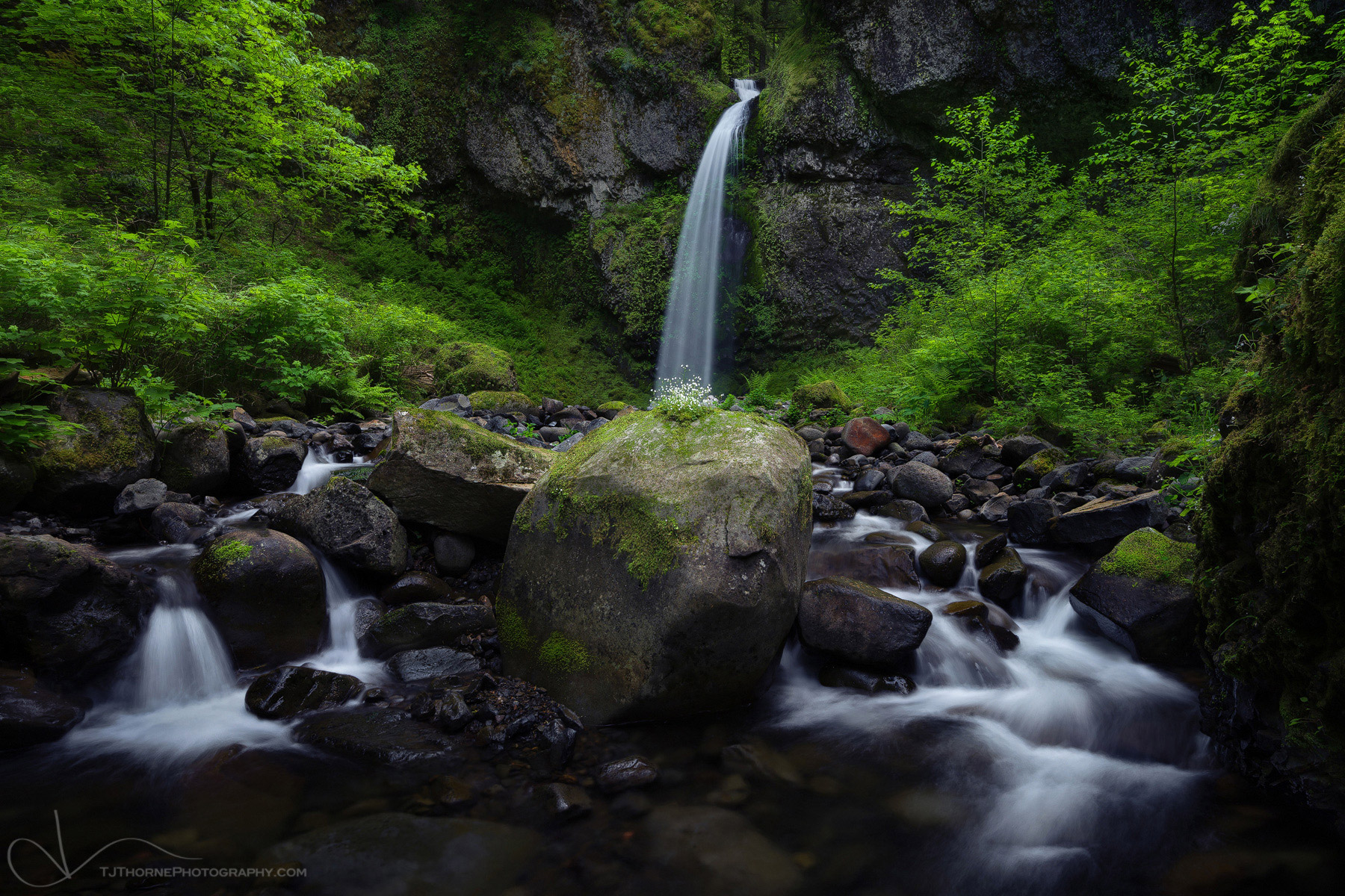 waterfall, stream, columbia river gorge, oregon, photo