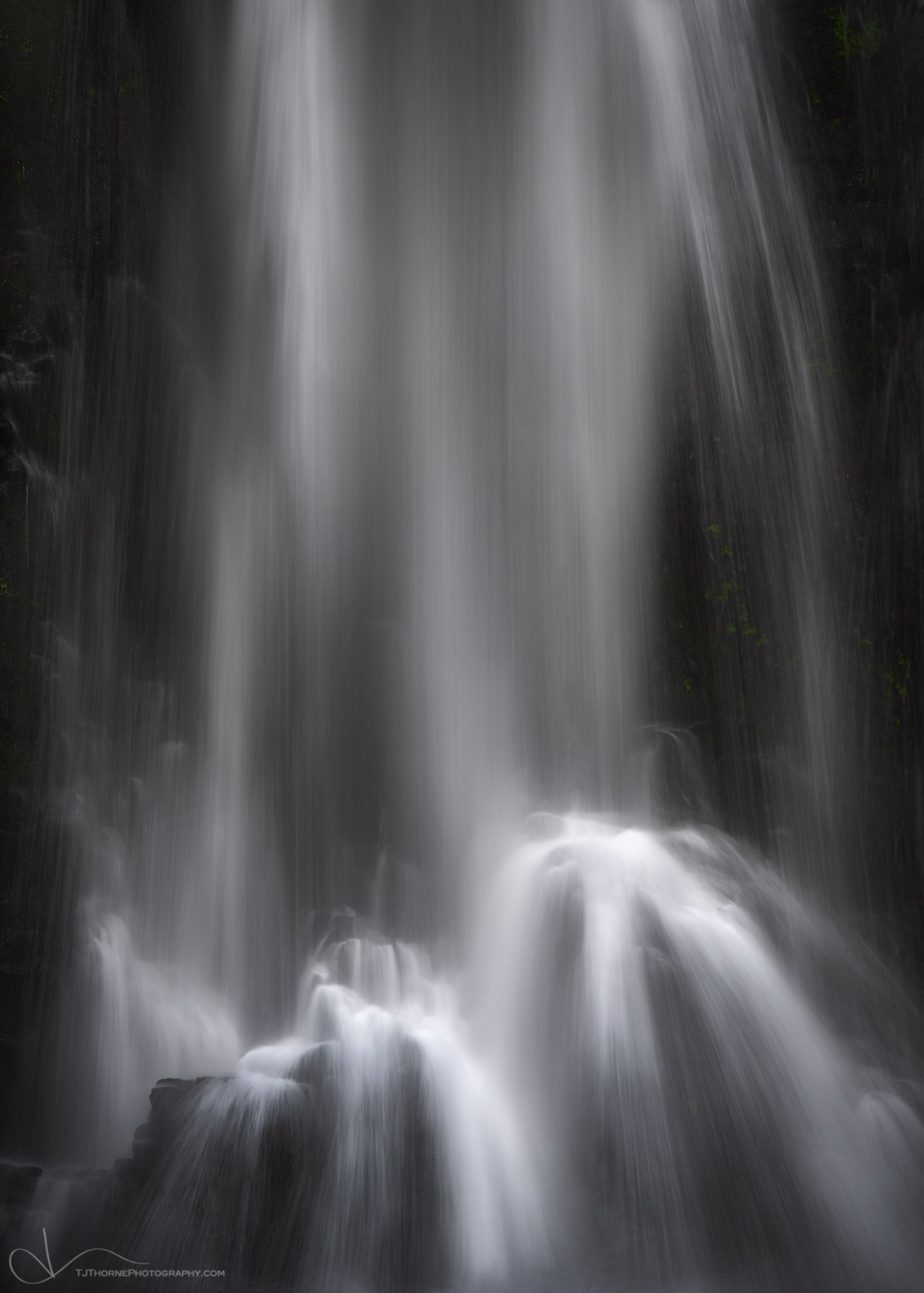 waterfall, water, double falls, silver falls state park, oregon, intimate, photo